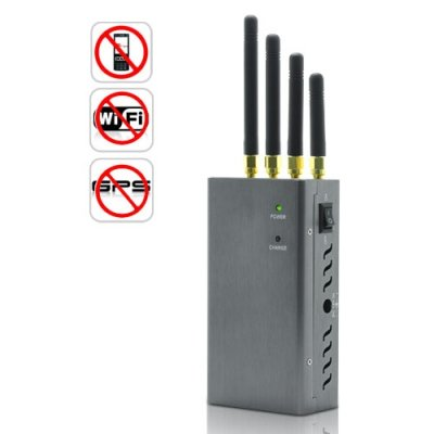 High Power Portable Signal Jammer for Cell Phone GPS / WiFi